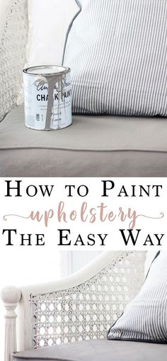 Paint an Upholstered Chair fabric furniture upholstery with chalk paint How to Paint an Upholstered Chair Chalk Paint Fabric, Painting Fabric Furniture, Chalk Paint Chairs, Diy Furniture Redo, Painted Chairs, Chalk Paint Furniture, Upholstered Furniture, Furniture Ideas, Funky Furniture