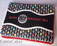 Mod circles birthday - CorrieCakes bringing back the sheet cake.  She is amazing!