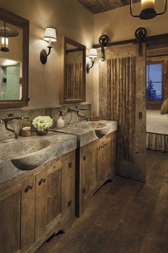 Inspiration Photo of Best Rustic Farmhouse Bathroom Flooring Ideas. Best Rustic Farmhouse Bathroom Flooring Ideas 31 Best Rustic Bathroom Design And Decor Ideas For 2018 Rustic Bathroom Designs, Rustic Bathroom Decor, Bathroom Design Small, Bathroom Ideas, Rustic Decor, Barn Bathroom, Vanity Bathroom, Bathroom Renovations, Rustic Shower