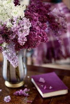 Lilacs. This is a gorgeous one just because they aren't all the same shade.