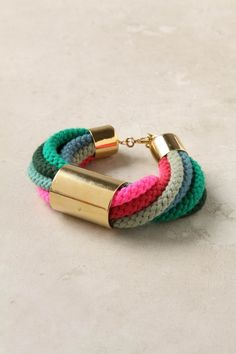hair ties made into corded braclet