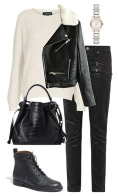 """""""Untitled #1377"""" by we-wore-what ❤ liked on Polyvore featuring mode, Paige Denim, Topshop, Madewell et Burberry"""