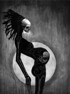 by Menton J. Matthews III (Most of you probably think this is morbid but I… Arte Horror, Horror Art, Dark Fantasy, Fantasy Art, Psy Art, Macabre Art, Danse Macabre, Creepy Art, Scary