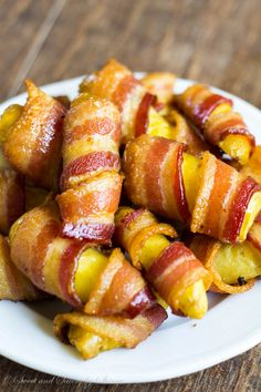 Bacon and fingerling potatoes are all you need for these finger-licking appetizers. Bacon wrapped fingerling potatoes- savory little bites f...