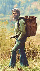 Doug Elliott with homemade basket. Doug is a true national treasure!Teacher, singer, storyteller, homesteader and author. To learn from and experience him is a very unique opportunity! Please support his good work in any way you can!