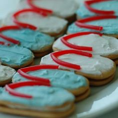 Every beach party must have flip-flops, so here's a cute idea--how about making some flip-flop cookies?