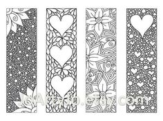 Zendoodle marcadores DIY Zentangle inspiró corazones y por JoArtyJo Colouring Pages, Adult Coloring Pages, Coloring Books, Kids Coloring, Mandala Coloring, Free Coloring, Coloring Sheets, Doodles Zentangles, Zentangle Patterns