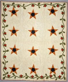 "vintage Texas Star 1868... this quilt has got that ""it"" factor... such charm!"