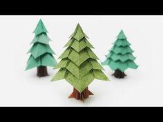 Origami de Árvore (Jo Nakashima) - Árvore de Natal - YouTube