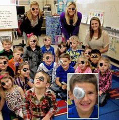 When Ms. Brown, an #elementary school #teacher in Jacksonville, Florida was informed that one of her students, Brantley Rogers, had injured his eye and will be wearing an eye patch for the next three months, she made eye patches for every student in her class to help Brantley fit in on his first day back to school.    http://www.news4jax.com/morning-show/Teacher-helps-injured-student-fit-in/-/1875838/18526734/-/format/rsss_2.0/-/14jbfba/-/index.html
