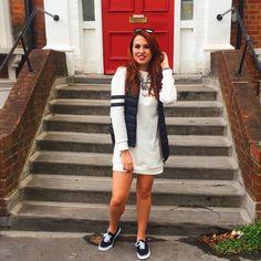 Look de hoje!  #look #londres #london. Look do dia. Vestido camisetão. Vestido de manga longa