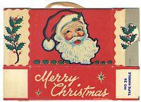 vintage Christmas printable - c1950s CHRISTMAS CANDY BOX Tape Handle No. 26 SANTA