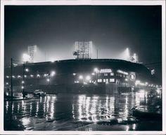 Tiger Stadium (formerly Briggs Stadium), first night game. 1948. via doctor_gogol