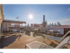 Roof Deck View from Bridgeview Place Condos in Old City