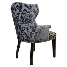 Brittania Chair Mink Gray Damask Armchair