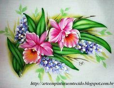 Pintura Em Tecido - Venha Aprender Pintura em Tecido: Pintura em Tecido Flores Orquidea