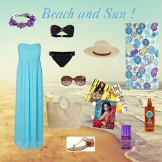 """beach day !"" by enjoyfashion22 on Polyvore"