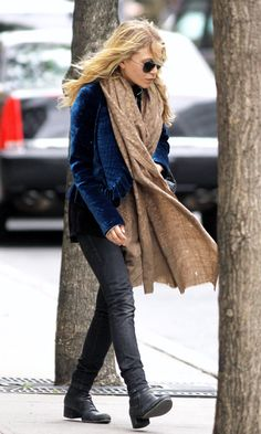 Mary Kate Olsen Royal Blue Jacket Velvet Jacket Nyc