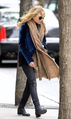 Mary Kate Olsen Royal Blue Jacket Velvet Jacket Nyc