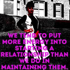 A lot of us are guilty of this. Maintaining a relationship means that you have to be selfless. That is one trait that is very scarce to come by these days. It means less of you and more of the other. Unfortunately we live in a time when we are taught to live think and do for ourself more then we can do for others. I pray for the spirit of SELFLESSNESS not just for me but for everyone in Jesus name. Don't forget to join me on #periscope today for #sdmotivates God bless you all and…