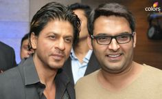 Embedded image permalink- Moments! When the Baadshah of Romance meets the King of Comedy. SRK and Kapil Sharma