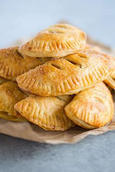 Apple Hand Pies - A super flaky pastry crust filled with cooked apples!