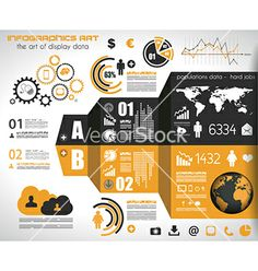 Infographic elements - set of paper tags vector by DavidArts on VectorStock®