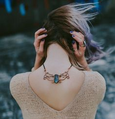 How pretty is that? Find best deals here - AdvenchMarkt Store Lapis Lazuli, Blue Hair Aesthetic, Aesthetic Fashion, Selfies, Back Pain Symptoms, Jade, Blue Gemstones, Plexus Products, Look