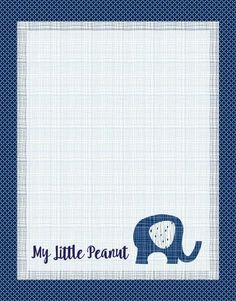 """""""Little Peanut"""" Baby Elephant Quilt - Custom Quilts by Stitched"""