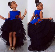 Modern African Dress Style for Kids 2018 That Will Blow Your Mind ~ AfroFashionStyle Baby African Clothes, African Dresses For Kids, African Print Dresses, Dresses Kids Girl, 50s Dresses, Elegant Dresses, African Dress Styles, African Children, African Prints