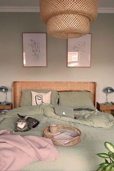 Room Decor Bedroom, Bedroom Inspirations, Bedroom Interior, Bedroom Design, Room Inspiration, Bedroom Green, Home Decor, Bedroom Inspiration Boho, Room Ideas Bedroom