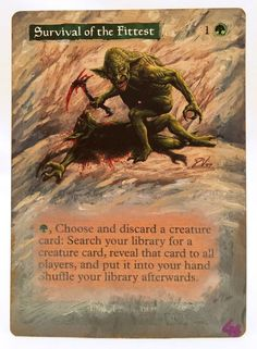 Survival of the Fittest World Champs MTG Magic Altered Art Custom Pimp OOAK OOP #WizardsoftheCoast