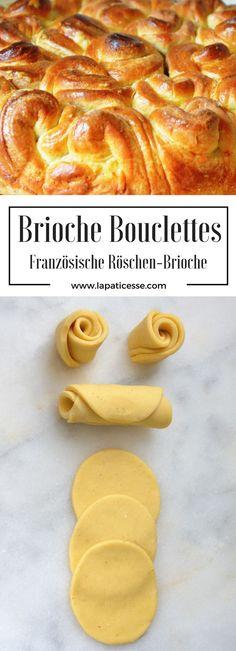 #Rezept für Brioche Bouclettes oder französische Röschen-Brioche #Brioche #französisch * Recipe for french pull-apart rose brioche * Recette de brioche bouclettes * Made by La Pâticesse