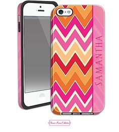Orange Chevron iPhone 5/5S Case | Holiday Gifts Christmas Gifts #holidaygiftguide