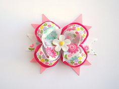 Spring Flower Boutique Bow by krystleandchloe on Etsy, $7.50