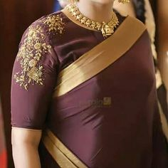 blouse designs Looking for latest thread work blouse design to try this season? Check out 17 amazing blouse models that you can wear with any saree and be a show stopper! Blouse Back Neck Designs, Kids Blouse Designs, Hand Work Blouse Design, Simple Blouse Designs, Fancy Blouse Designs, Bridal Blouse Designs, Hand Designs, Kerala Saree Blouse Designs, Thread Work