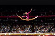 Gabby Douglas doing a leap on beam!!!!!
