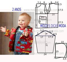 Sewing Baby Jacket Children 52 Ideas For 2019 Baby Dress Patterns, Baby Clothes Patterns, Sewing Patterns For Kids, Sewing For Kids, Clothing Patterns, Fashion Kids, Baby Boy Jackets, Sewing Clothes, Boy Outfits