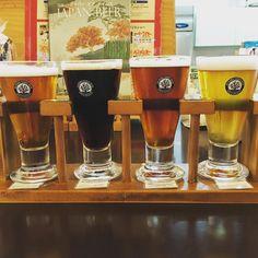OKINAWA SANGO BEER のテイスティングセットおきなわワールド内に醸造所があり地ビール喫茶等でできたてを飲めますサンゴのロゴマークがおしゃれ #beer #craftbeer #nanjo #okinawa