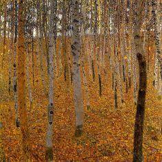 Gustav Klimt (1862 - 1918) Buchenwald (Forest of Birch Trees), 1902 Oil on canvas  Staatliche Kunstsammlung Dresden