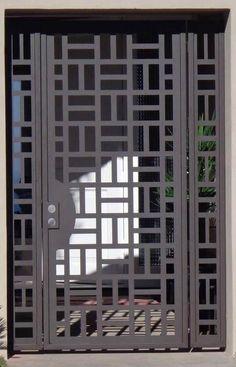 Best Iron Doors: Gorgeous Models & Design to Inspire You Steel Gate Design, Front Gate Design, Main Gate Design, House Gate Design, Door Gate Design, Railing Design, Window Grill Design Modern, Balcony Grill Design, Grill Door Design