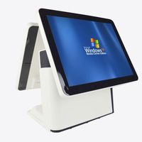 Double Touch Screen POS Terminal restaurant supermarket with management… Retail Pos System, Laundry Equipment, Commercial Laundry, All In One, Software, Management, Touch, Restaurant, Technology