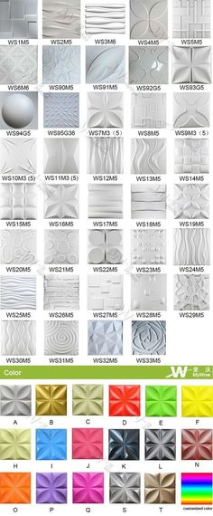 PVC Wall Panel Collection from Guangzhou MyWow Decor Co. Pvc Wall Panels, 3d Panels, 3d Wall Decor, Modern Wall Decor, 3d Wall Tiles, Stair Walls, Home Decoracion, Wall Treatments, Ceiling Design