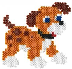 perler bead dog | See more items from Midi Hama Beads .