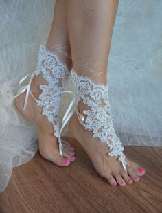 Free Ship Beach wedding barefoot sandals Beach shoes by UnionTouch