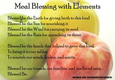 Meal blessing )0(