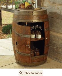 Storage/Bar from an old Wine Barrel.