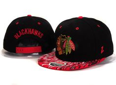 NHL-Chicago Blackhawks Skull Snapbacks Hats Black/Red