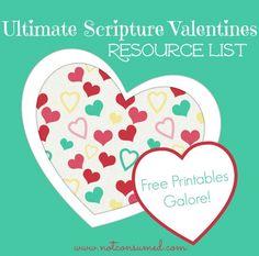 Ultimate scripture valentines resource list. Free printables galore!