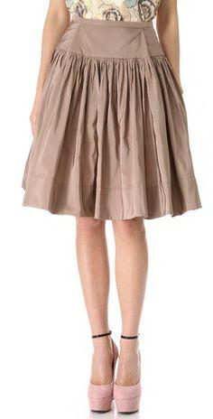 Rochas Full Faile Skirt